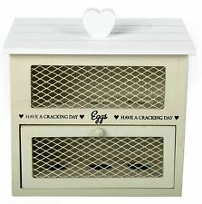 Shabby Chic Wooden 6 Egg House Kitchen Cupboard Cabinet Storage Rack Tray Holder