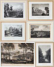 6 tolle Stahlstiche um1830 Sachsen Dresden Nossen Basteifelsen Liebethaler Grund