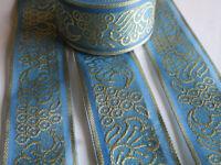 2 Meter Borte Spitze Hell Blau 3,4 cm Nichtelastisch breit elegante CL 005 NC