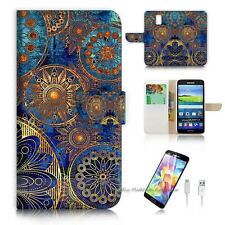 ( For Samsung Galaxy S5 ) Case Cover S8500 Abstract Flower