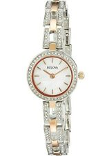 Bulova Women's 98L212 Crystal Collection Quartz Two Tone Dress Watch