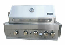 """Mont Alpi 400 44"""" Built-In Gas Grill with Temperature Gauge & LED Control Knobs"""