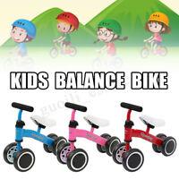 4 Wheel Toddler Balance Bike No Pedal Bicycle Kids Ride On Scooter Walker Gift