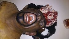 Screen used SCREEN USED SILICONE HEAD. WOW INSANE. Gun blast or Smashed. Horror.