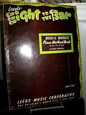 Leeds Eight to the Bar Boogie Woogie Piano Method by Frank Paparelli Sc 1941
