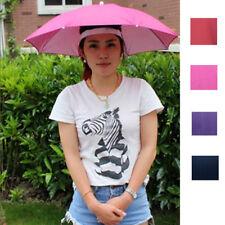 Outdoor Foldable Sun Umbrella Hat Golf Fishing Camping Headwear Cap Radom Color