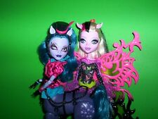 Monster High Freaky Fusion Avea Trotter & Bonita Femur Lot of 2 Dolls