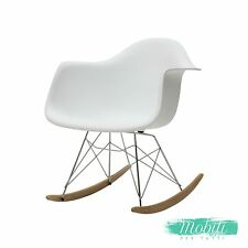 Sedie a dondolo ebay for Sedia moderna bianca