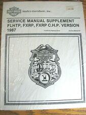 New Listing1987 Harley-Davidson Police Service Manual Sup. New Super Electra Glide (Fits: Harley-Davidson)