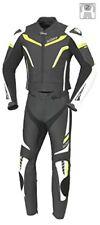 Tute in pelle e altri tessuti due pezzi neri per motociclista taglia 54