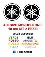 2 Adesivi Yamaha Moto Stickers Decals KIT COLORI A SCELTA Cross 10 cm logo