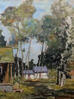 Original Earl W. North (1904-1989) Painting- Listed Ohio Artist- Landscape House