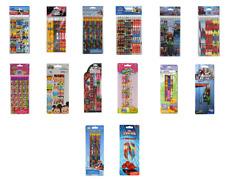 2x Disney Marvel Nickelodeon Moose School Pencil Supply 6pc/12 pc Licensed Item