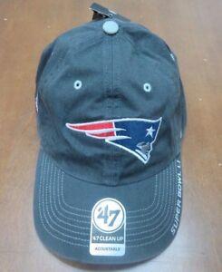 Patriots 47 Brand Original Grey Clean Up Strapback Adjustable Hat