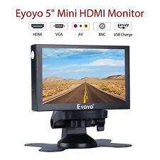 """Mini Portable 5"""" HDMI Monitor 800x480 HDMI BNC BGA AV For Car Rear View FPV PC"""
