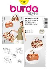 Burda Costura Patrón Travel Bags 7119