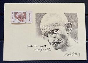 Gandhi Monaco 🇲🇨 Relief Proof Print with Artists Original signature 14.8x21CM