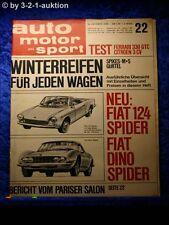 AMS Auto Motor Sport 22/66 Ferrari 330 GTC 3CV Fiat 124 Spider + Dino