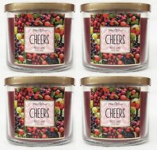4 Bath & Body Works Cheers Mulled Wine 3-Wick Candle 14.5 oz