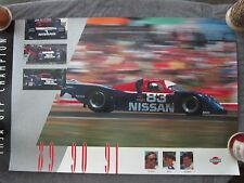 NISSAN GTP WINNERS / Geoff Brabham  motor racing poster - sticker - late 1980