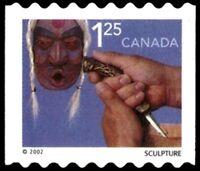 Canada  # 1930   SCULPTURE COIL STAMP   New  Pristine 2002 Original Gum