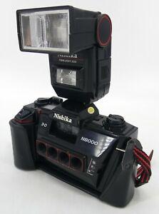 Nishika N8000 35mm Quadrascopic Stereo 3D Lenticular Camera With 3010 Flash