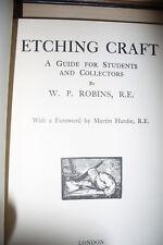 ETCHING CRAFT  [ ROBINS 2nd H/B 1924]