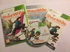 XBOX 360 GAME SHAUN WHITE SKATEBOARDING + BOX INSTRUCTIONS COMPLETE +DLC PAL GWO