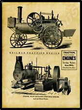 Heilman Traction Engines & Stationary Gas Engines New Metal Sign: Evansville, In