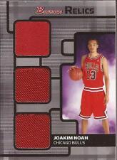 JOAKIM NOAH 2007-08 Bowman Relics Triple Jersey Rookie  #86/99