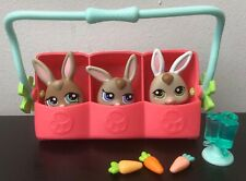 LPS Littlest Pet Shop Bunny Rabbit Triplets Petriplets #1332 #1333 #1334