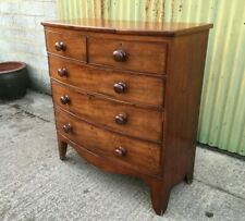 Victorian Mahogany Bow Front Chest Of Drawers
