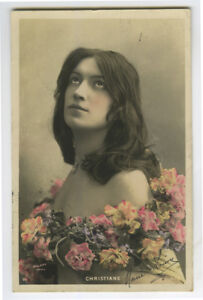 c 1906 Glamor Long Haired Hair Coiffure RISQUE BEAUTY Pretty Lady photo postcard