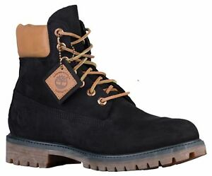 """TIMBERLAND - TB0A19MW - Men's 6"""" Waterproof Boots - Black & Brown - Size 12"""