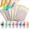 3D Nail Art Decal Self Adhesive Weed Nail Stickers Pot Weed Leaf Manicure Decor