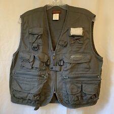 Pflueger Size M 100% Cotton Dark Green Fishing Vest PFYFLYVESTM