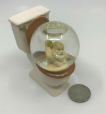 "Unusual Christmas  3"" Snow Globe Santa Bathing in a Toilet Odd Collectible [05]"