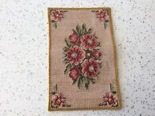 Dolls house miniature 1:12 STUNNING handmade embroidered rug
