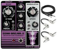 New Death By Audio Echo Dream 2 Echo Modulation Guitar Effects Pedal w/Cables