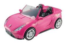 Official Barbie Glam Style Convertible Sports Car Pink Glitter  Playset Toy