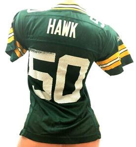 Green Bay Packers Youth Jersey A.J. Hawk #50 Reebok On Field NFL Football Size S