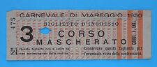 5795) Biglietto d'ingresso al Carnevale di Viareggio 1950
