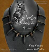 UNLEASH YOUR INNER BEAST GRIZZLY BEAR CLAW NECKLACE INDIAN STYLE - FREE SHIP C'