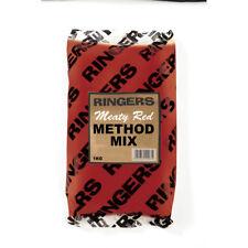 Ringers Coarse Fishing Bait - Meaty Red Method Groundbait Mix (1Kg)