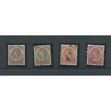 Suriname 50,52, 54, 55 Wilhelmina  VFU/gebr   CV 51 €