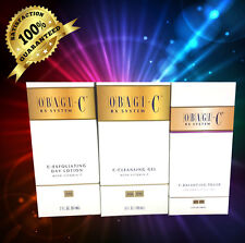OBAGI-C System Kit of 3 items,C-Exfoliating,C-CleansingGel,C-Toner,LOTION SEALED