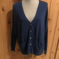 Vince Cashmere Blend Square Cardigan Sweater #73860 Blue Small