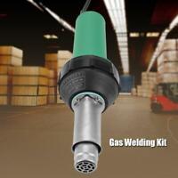 Electric Soldering Iron Adjustable Temperature 1600W Plastic Welding Tool Kit US