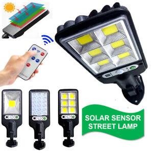 600W Solar Street Lights PIR Motion Sensor LED Outdoor Security Wall Lamp+Remote
