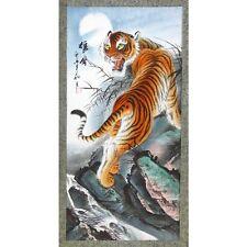 Rollbild Majestätischer Tiger, chinesische Malerei, Bildrolle, Hängerolle China